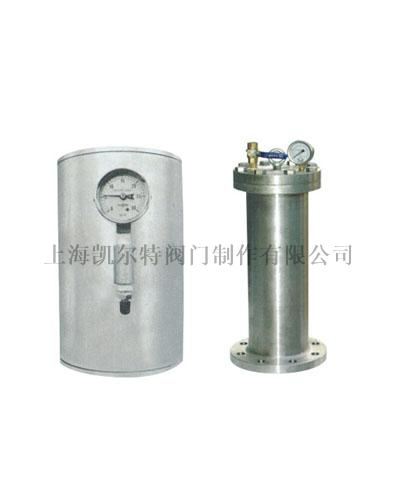 Gasbag type water hammer absorbing device